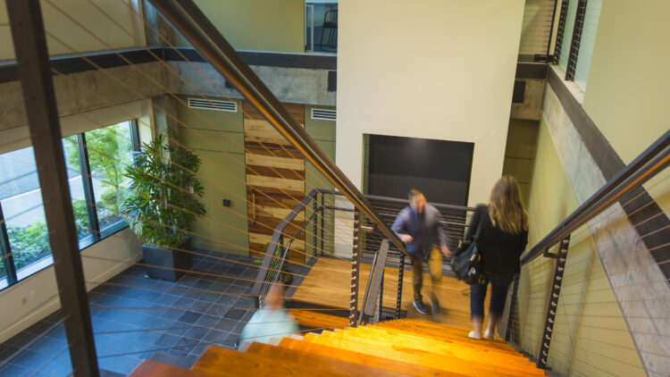 Sterling Plaza 1 - Stairs from Lobby - Sterling Realty Organization