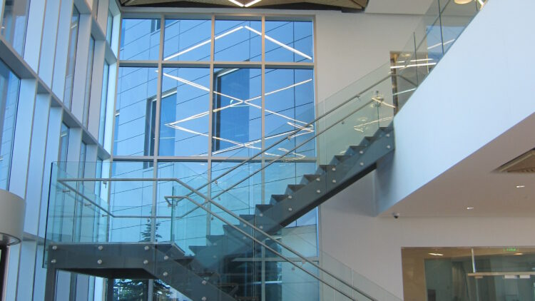 Towne Ridge Center - Lobby Staircase - Sterling Realty Organization